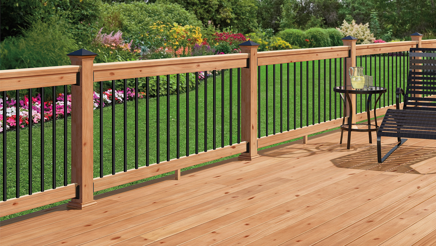 Image of: Best Metal Balusters For Deck