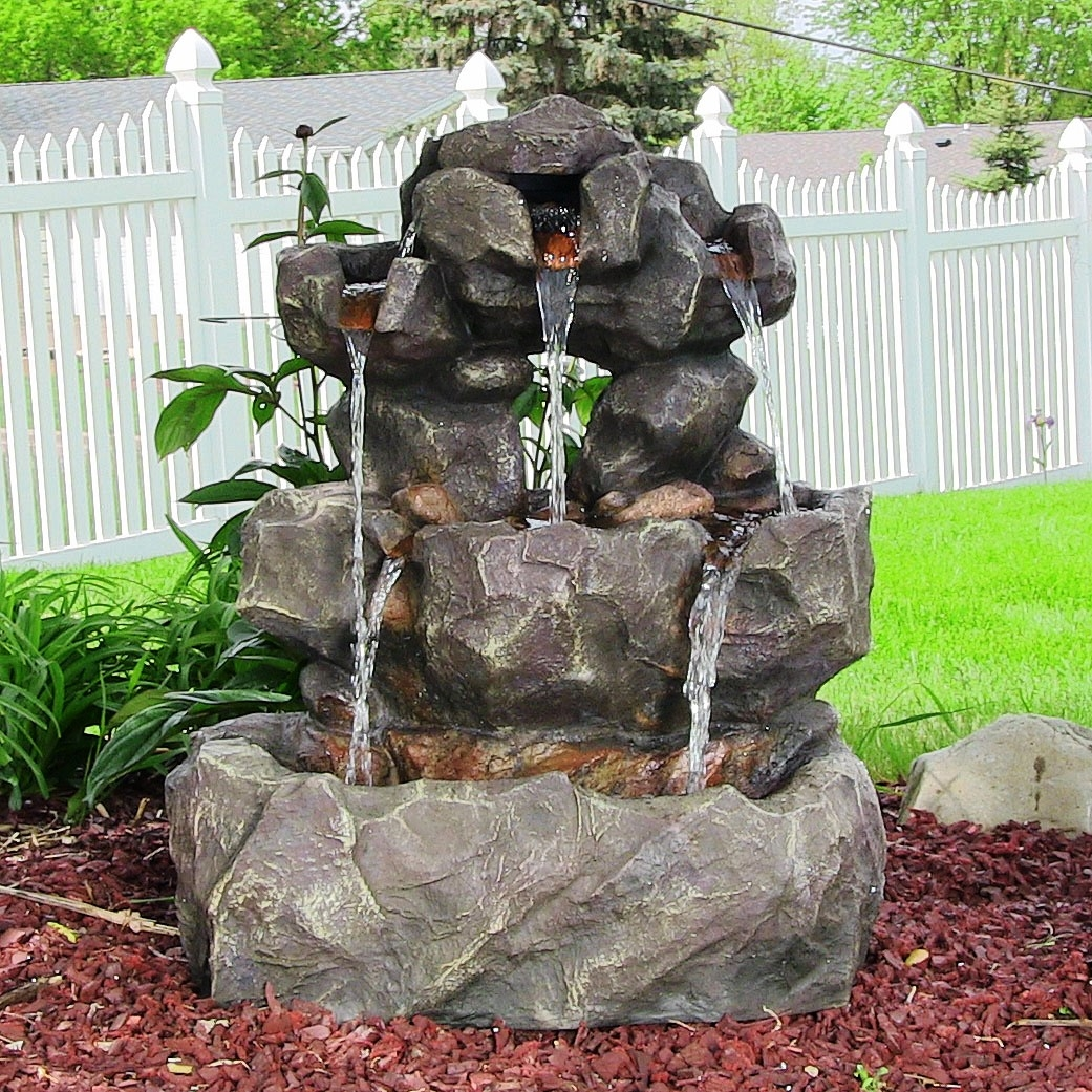 Image of: Best Outdoor Waterfall Fountain