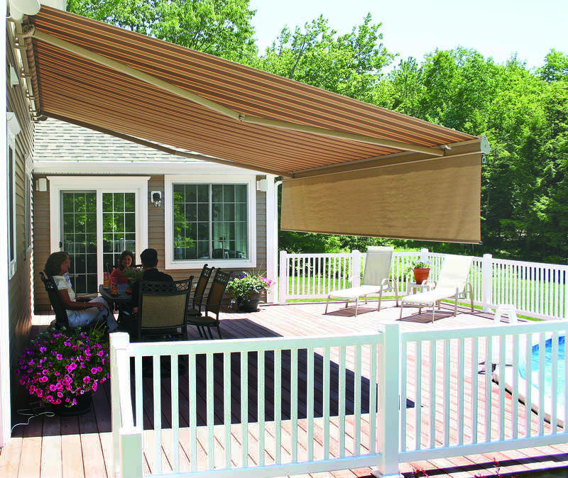 Image of: Best Retractable Deck Awnings