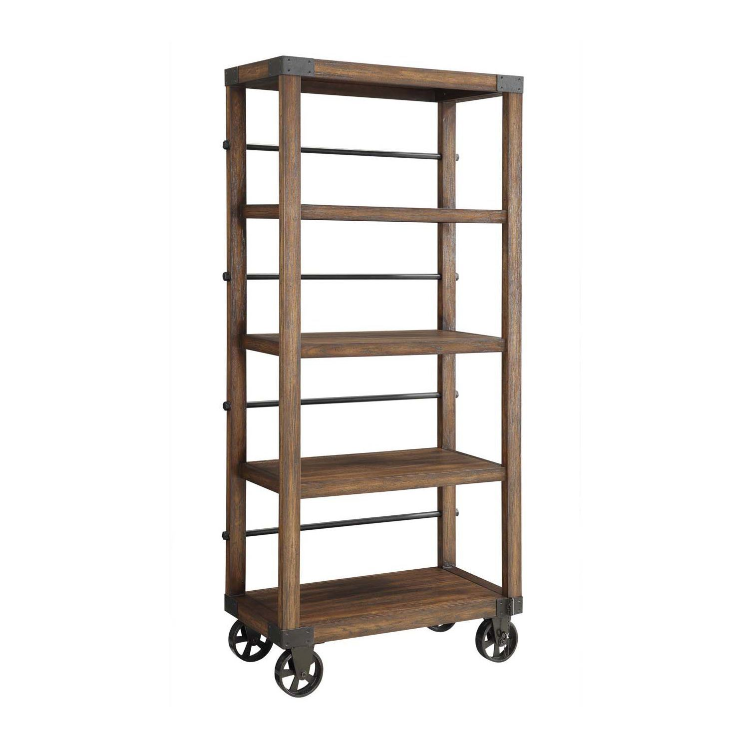 Image of: Best Rolling Bookcase