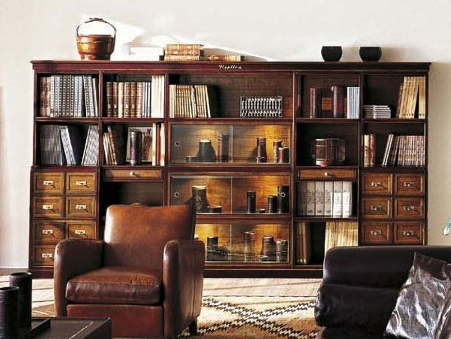 Image of: Best cherry wood bookcase