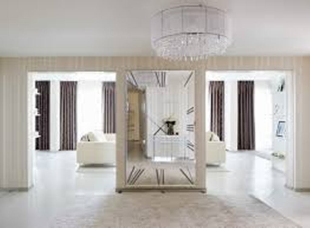 Image of: Big Wall Mirrors Bathrooms