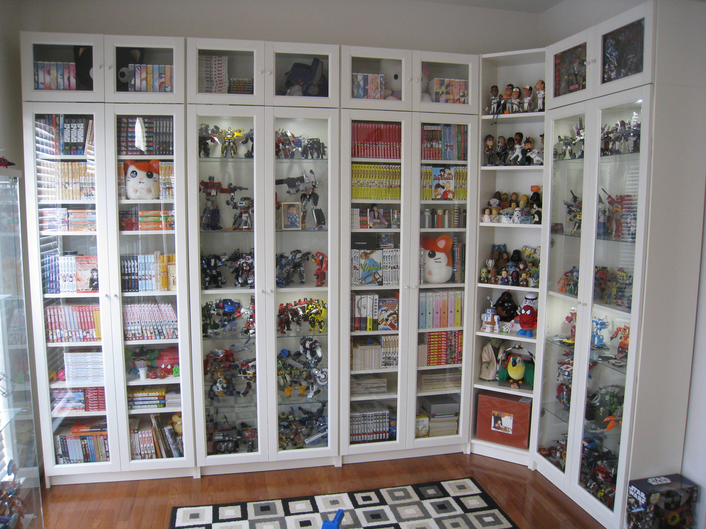 Image of: Billy Bookcase Glass Door
