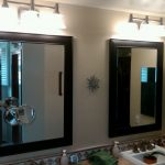 Black Brushed Nickel Bathroom Mirror