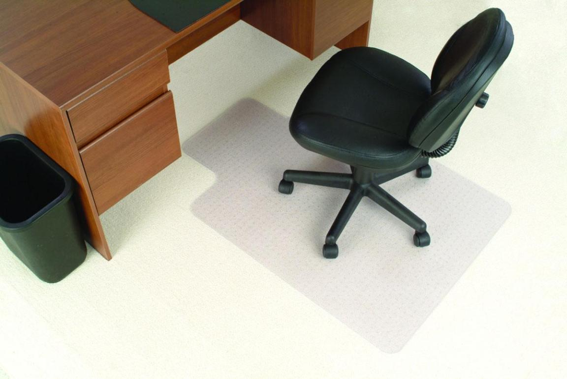 Image of: Black Computer Chair Mat