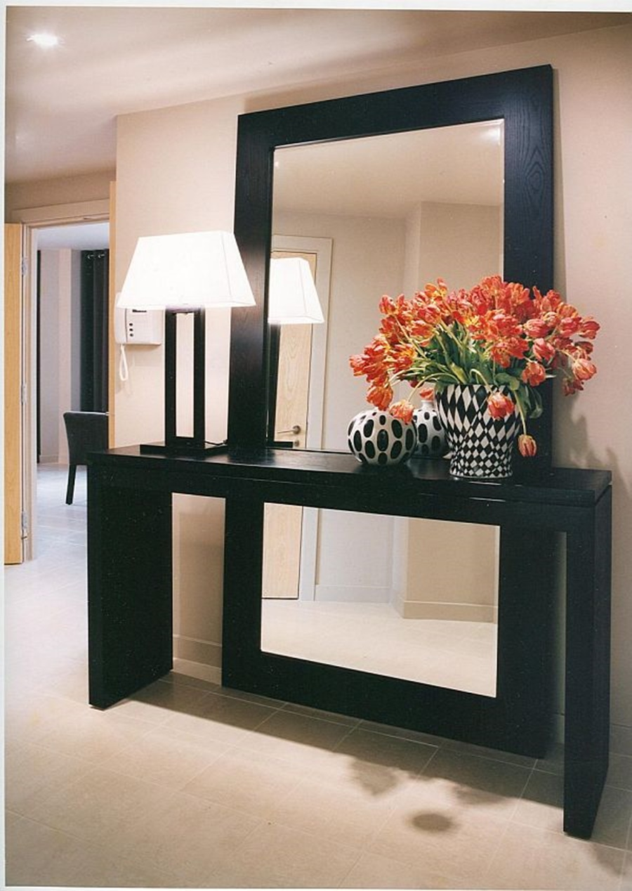 Image of: Black Large Oversized Wall Mirrors