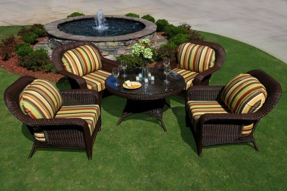 Image of: Black Patio Conversation Sets