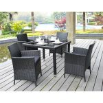 Black Wicker Patio Dining Sets