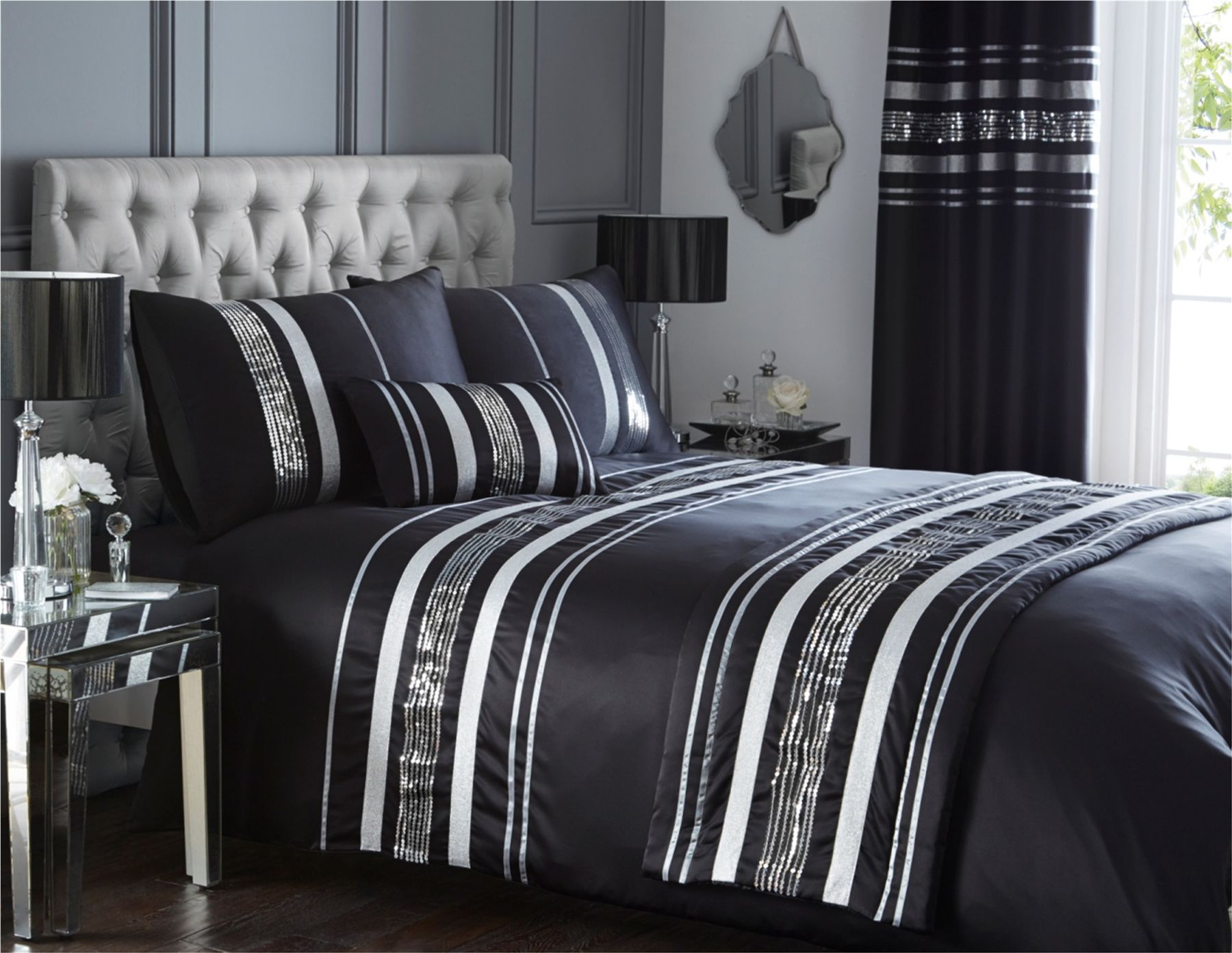 Image of: Black and white bedding ideas