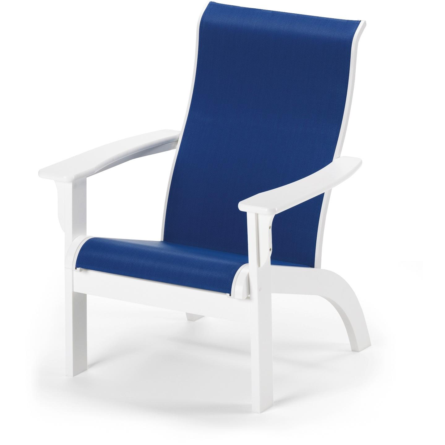 Image of: Blue Sling Patio Chairs