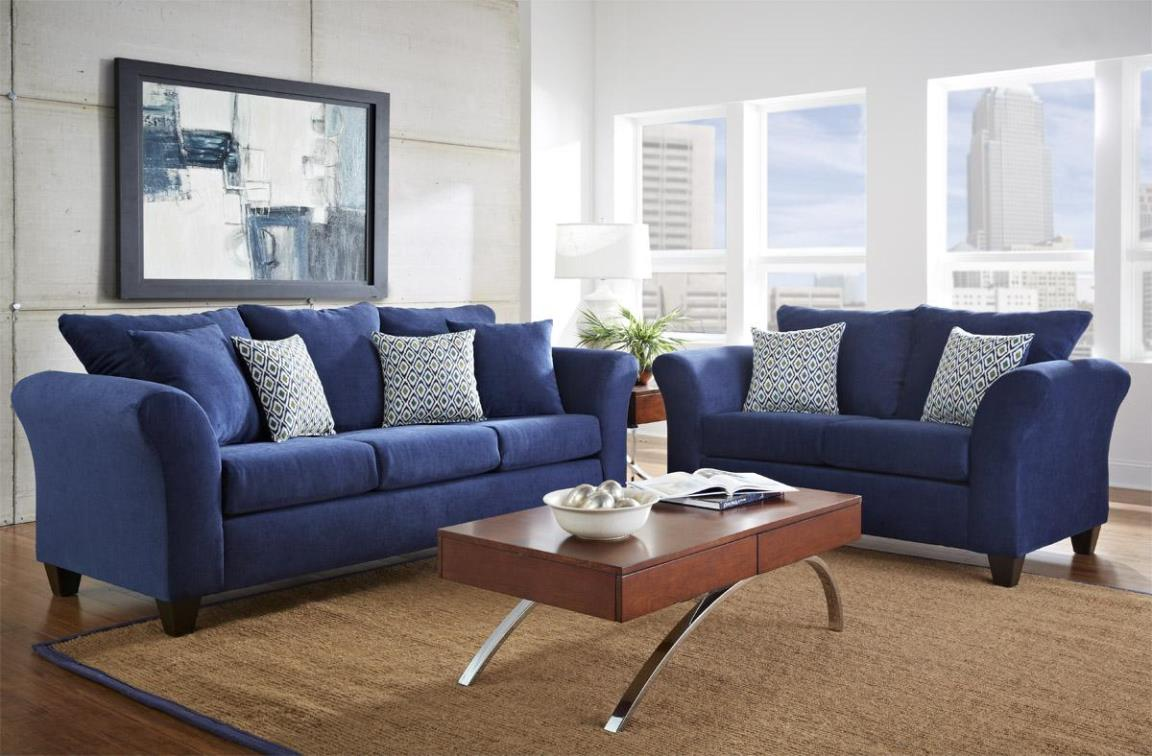 Image of: Blue Sofa And Loveseat Sets
