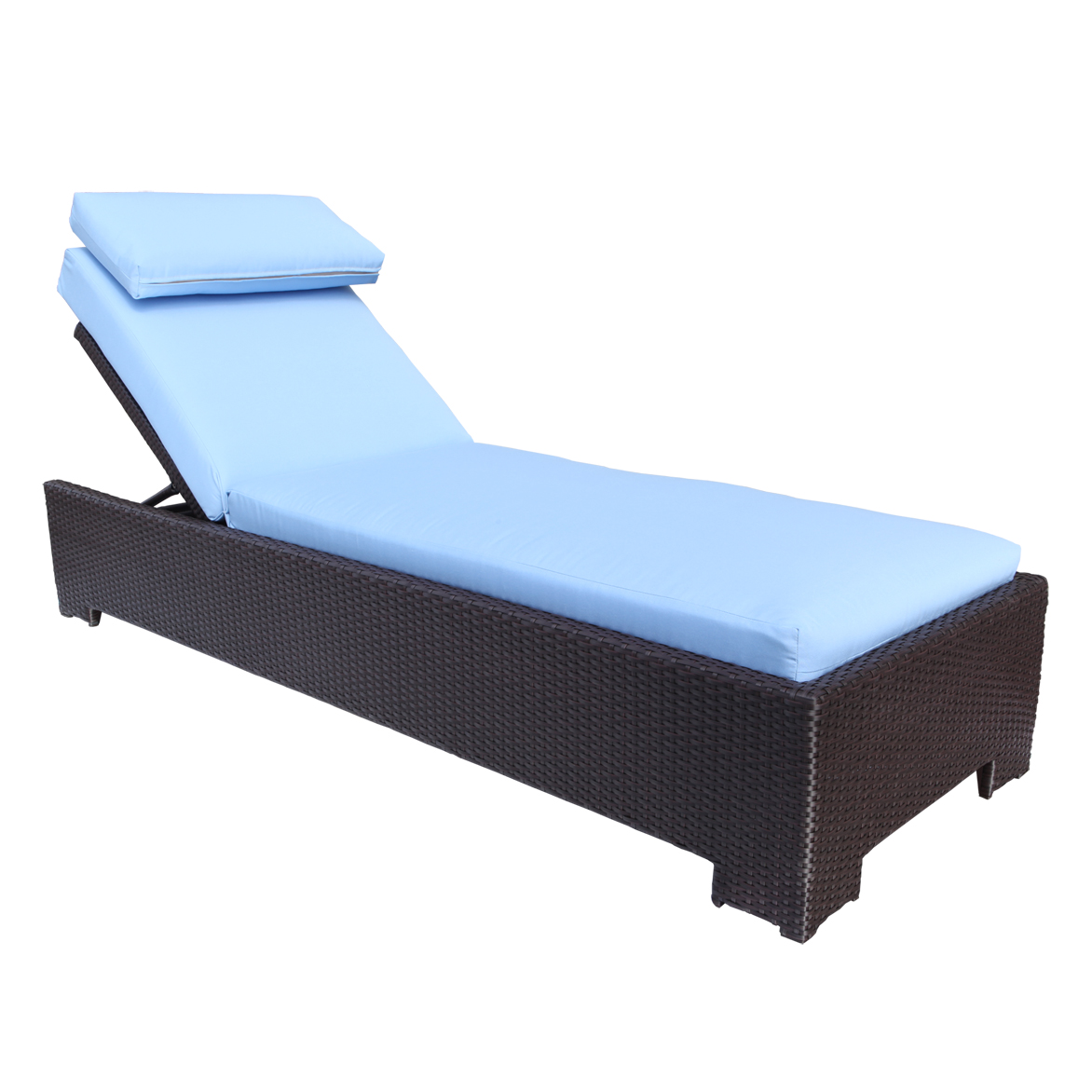 Image of: Blue and Black Patio Chaise Lounge Chairs