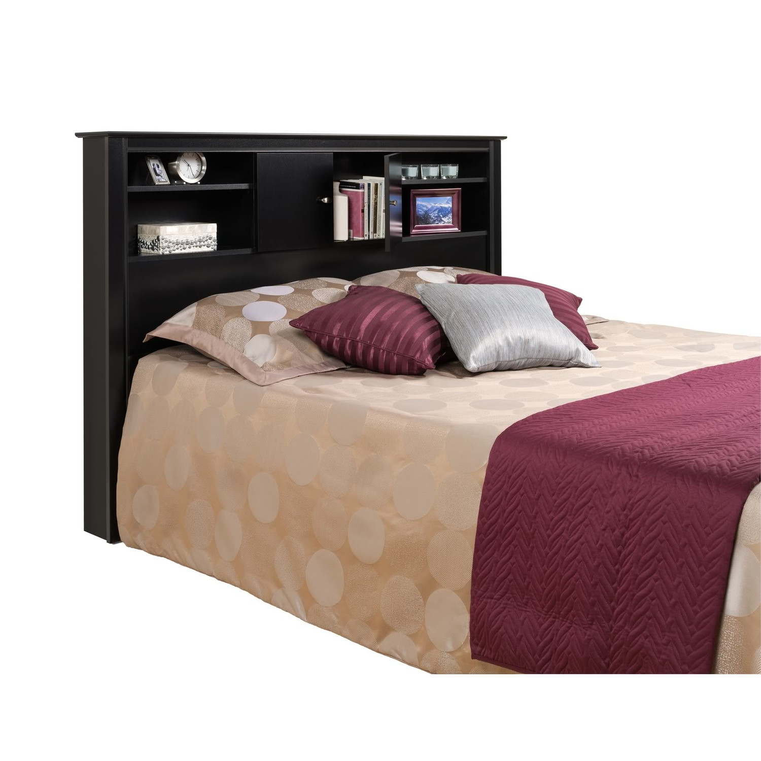 Image of: Bookcase Headboard King   red
