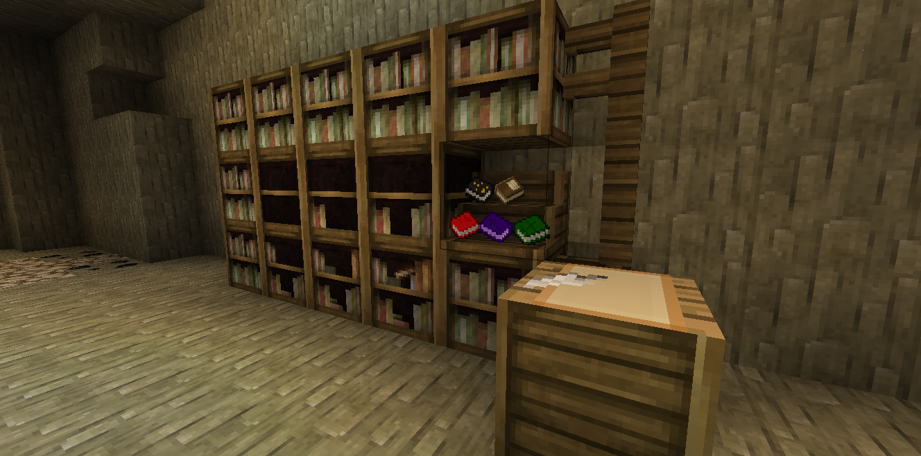Image of: Bookcase Minecraft Room