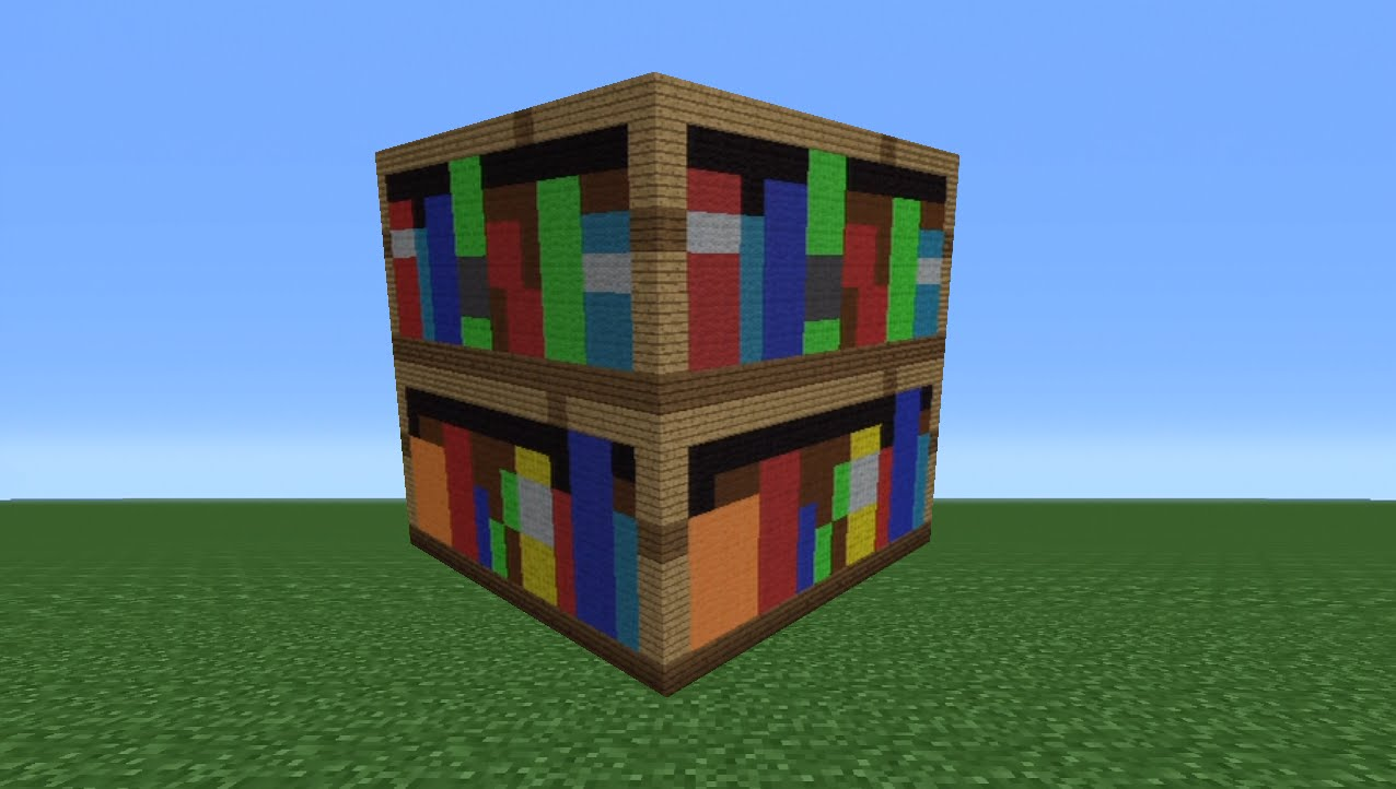 Image of: Bookcase Minecraft Size