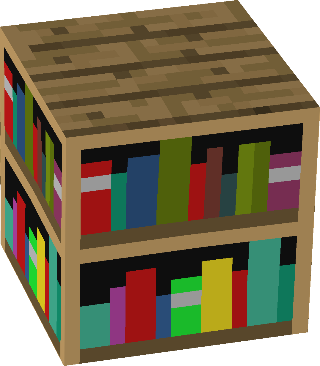 Image of: Bookcase Minecraft in Home