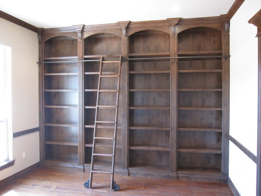 Image of: Bookcase ladders