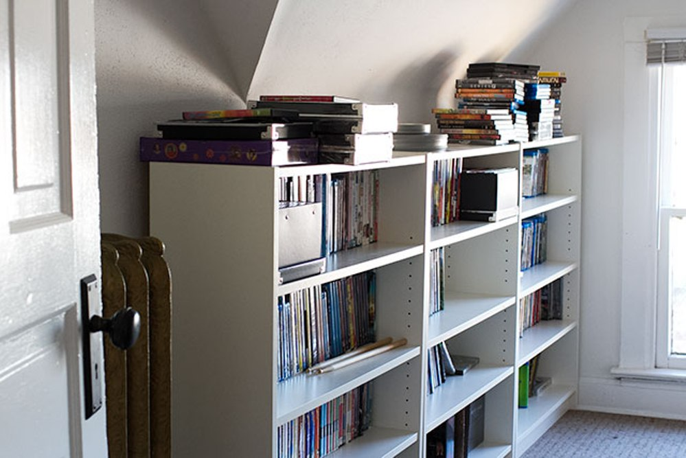 Image of: Bookcase tall and narrow