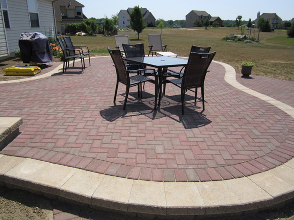 Image of: Brick and Paver Patio Designs