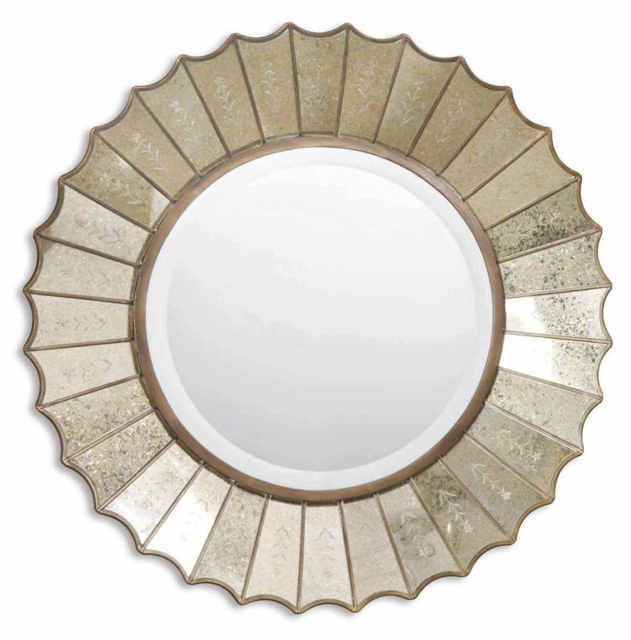 Image of: Bronze Round Wall Mirror