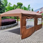 Brown Canopy Tent with Sides