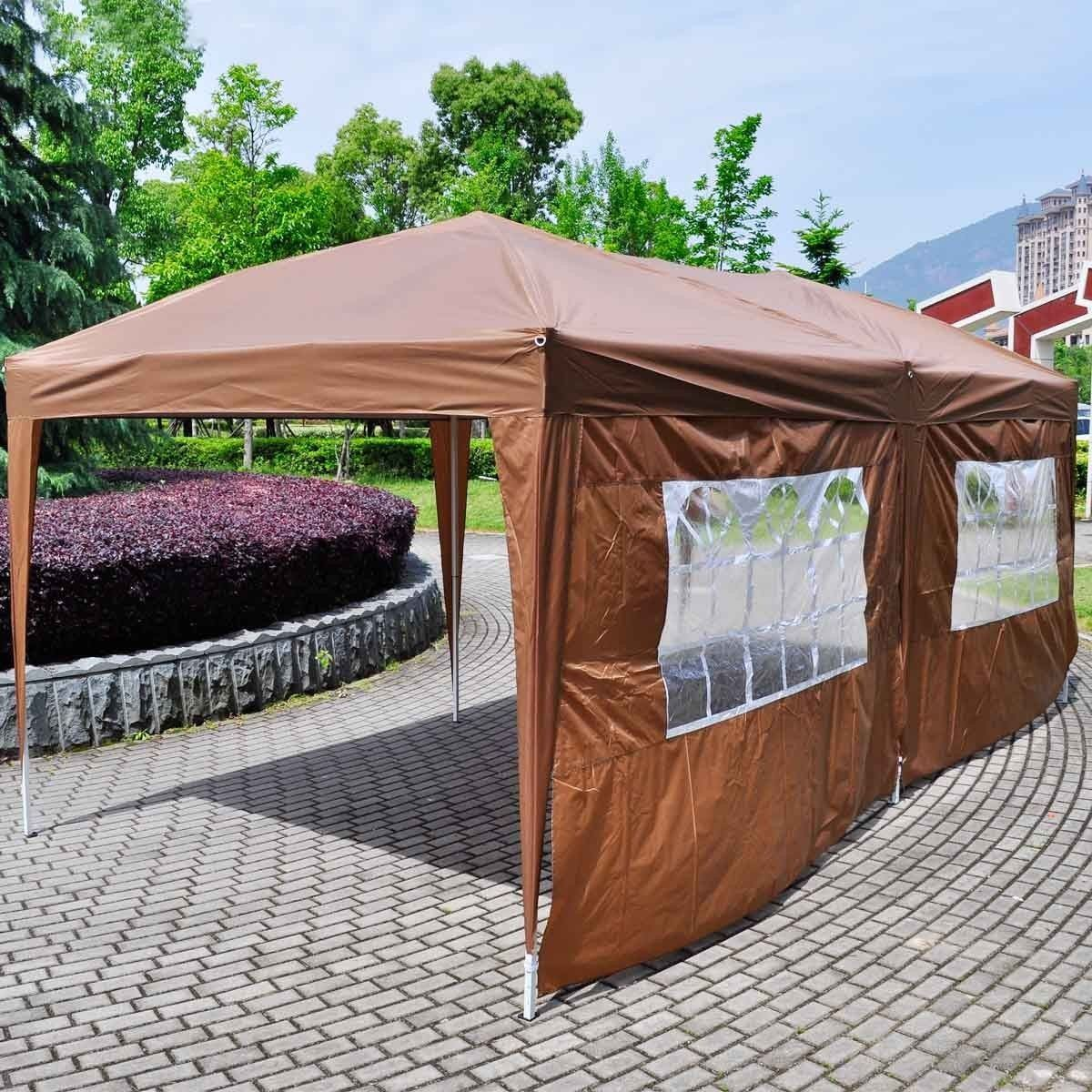 Image of: Brown Canopy Tent with Sides
