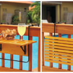 Brown Folding Deck Table
