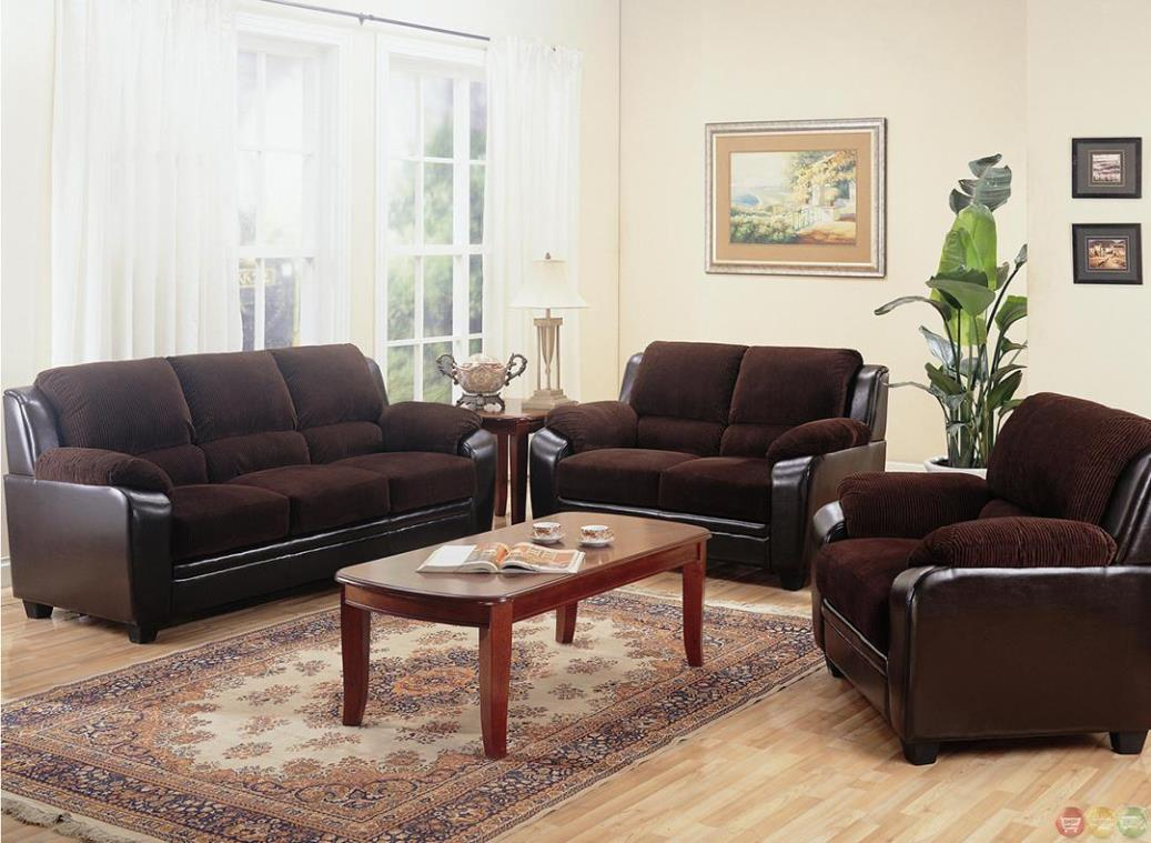Image of: Brown Sofa And Loveseat Sets