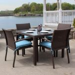 Brown Wicker Patio Dining Sets