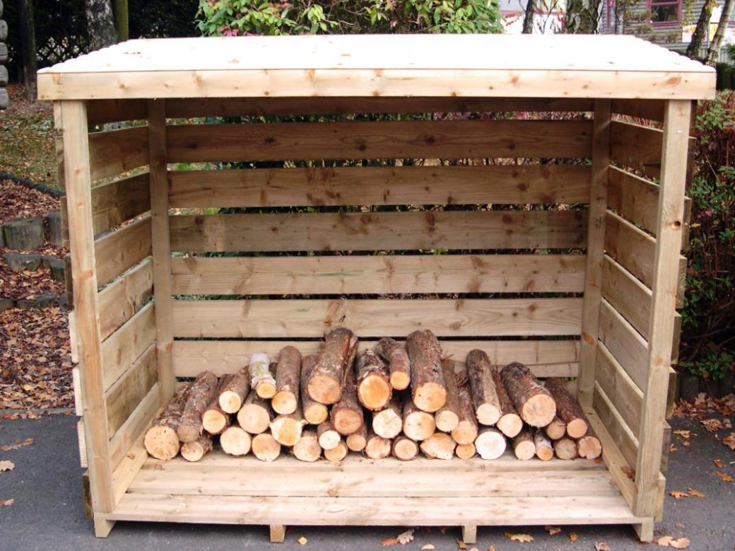 Image of: Build Firewood Rack