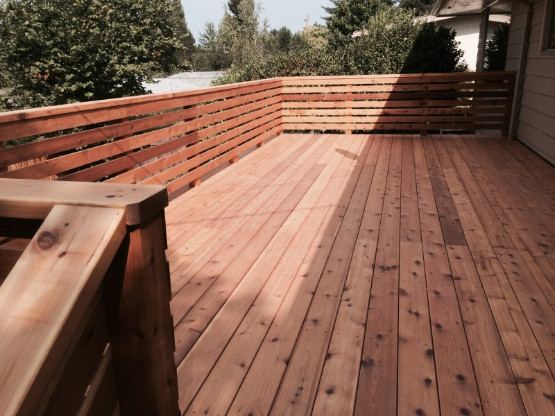 Image of: Build Horizontal Deck Railing
