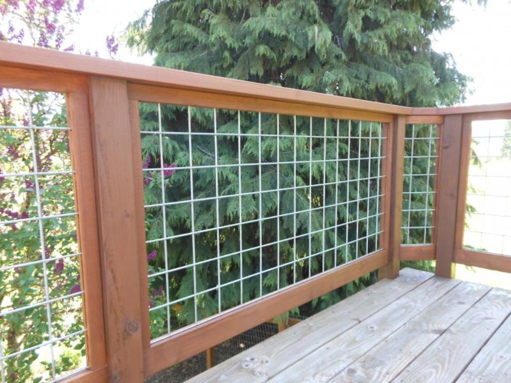 Image of: Build Wire Mesh Deck Railing