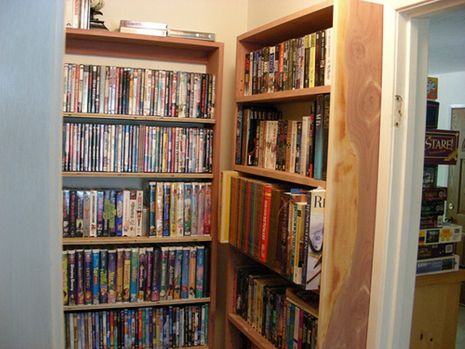 Image of: Build shallow bookcase
