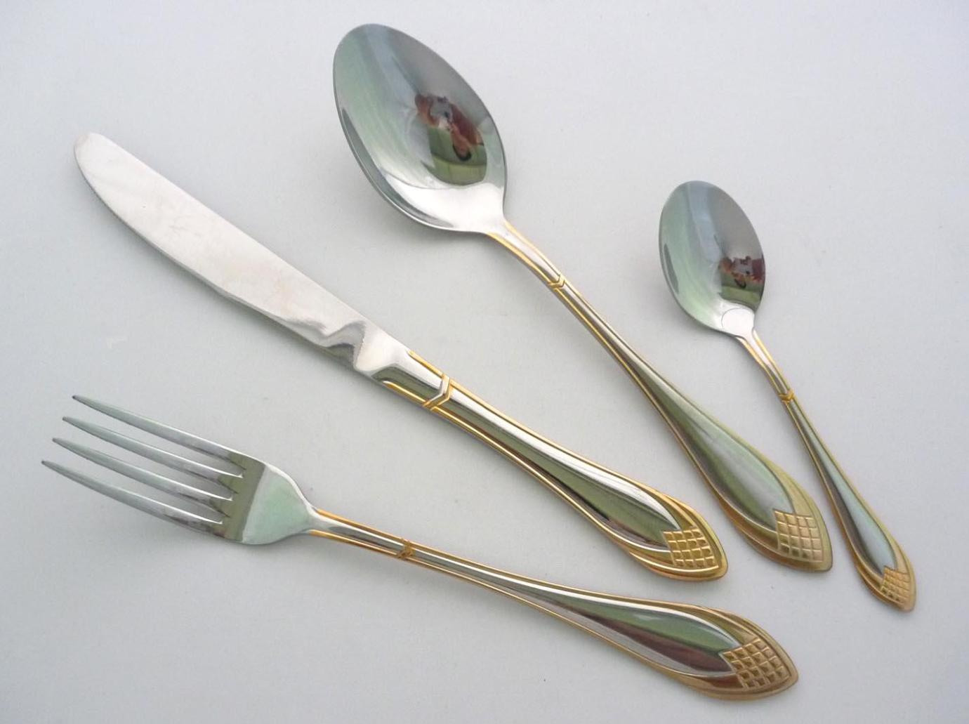 Image of: Bulk Gold Plastic Silverware