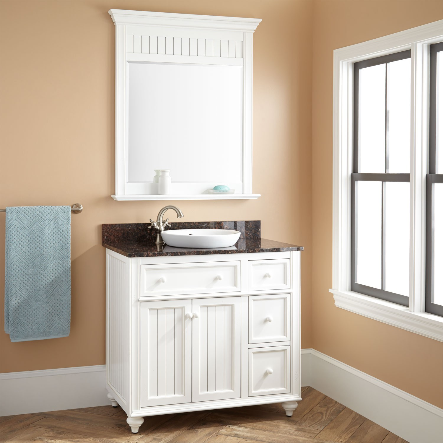 Image of: Cabinet White Dresser With Mirror