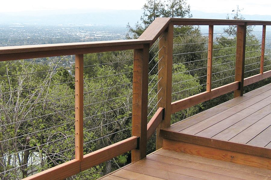 Image of: Cable Deck Railing Ideas