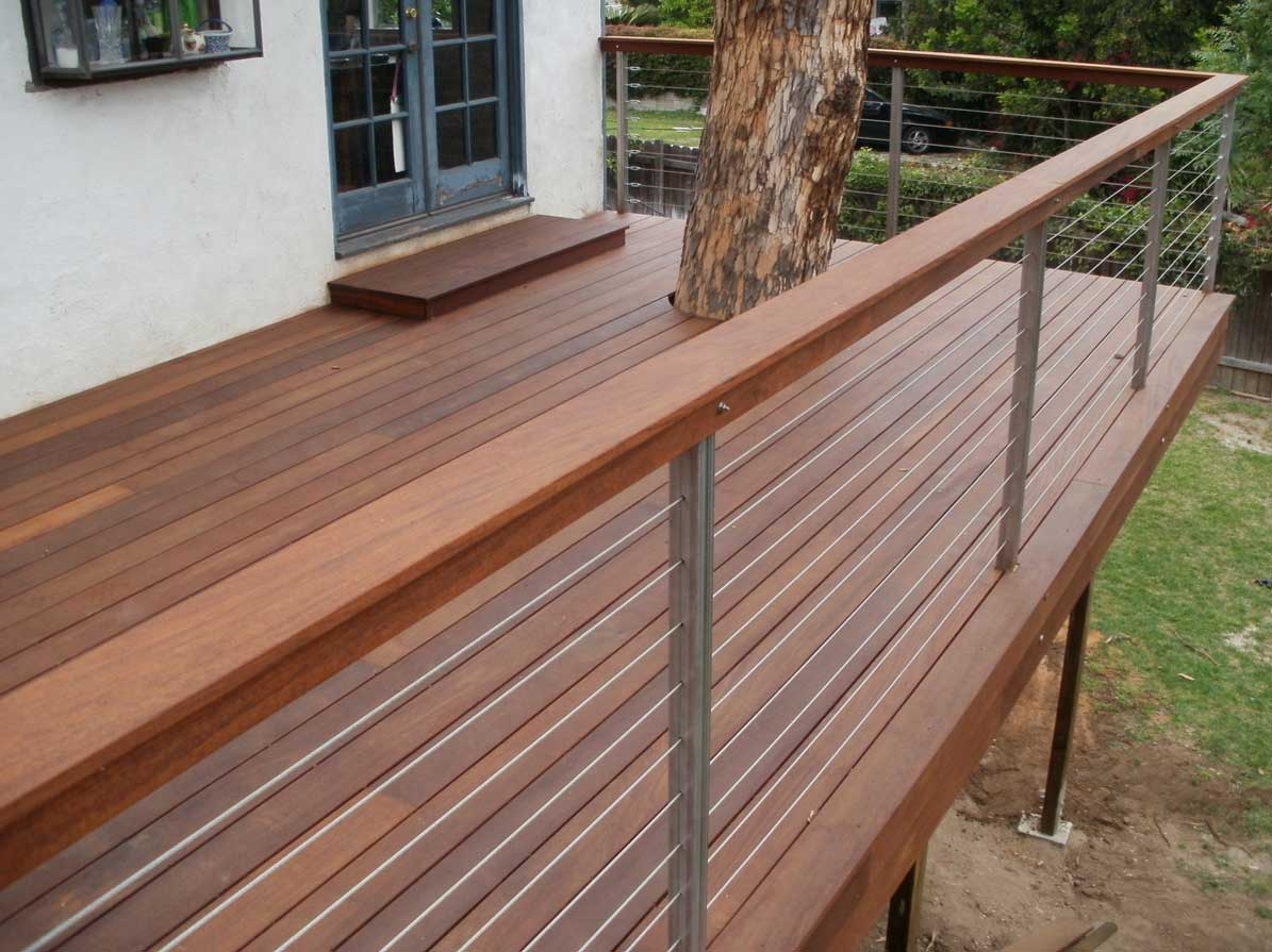 Image of: Cable Deck Railing Style