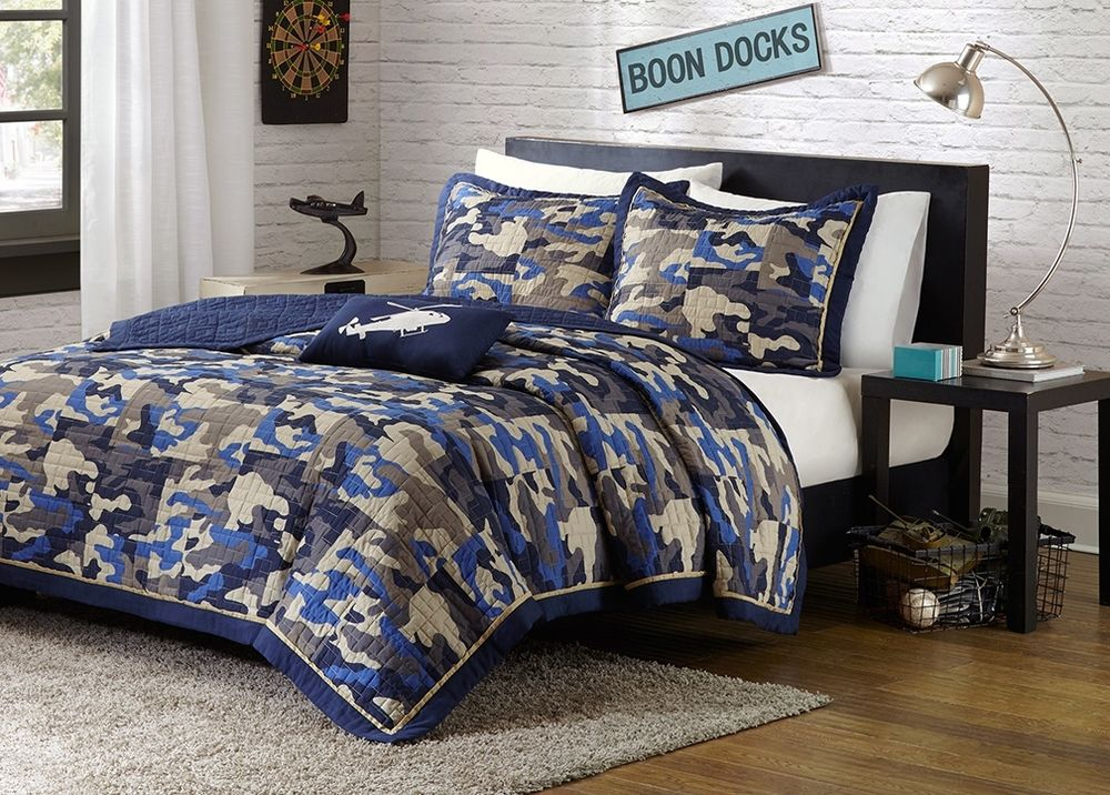 Camouflage bedding diy