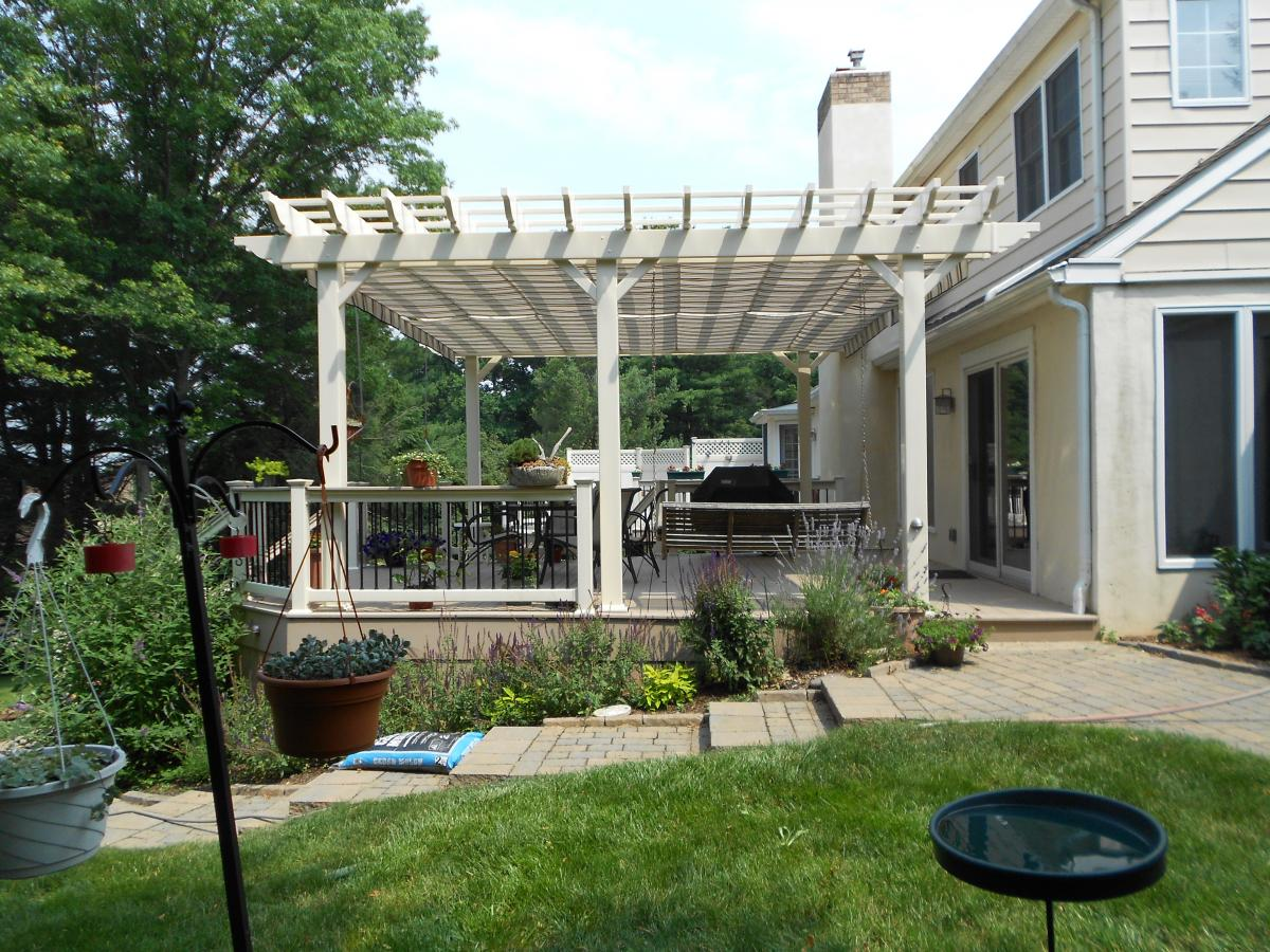 Image of: Canopies for Decks Plan