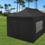 Canopy Tent with Sides Black