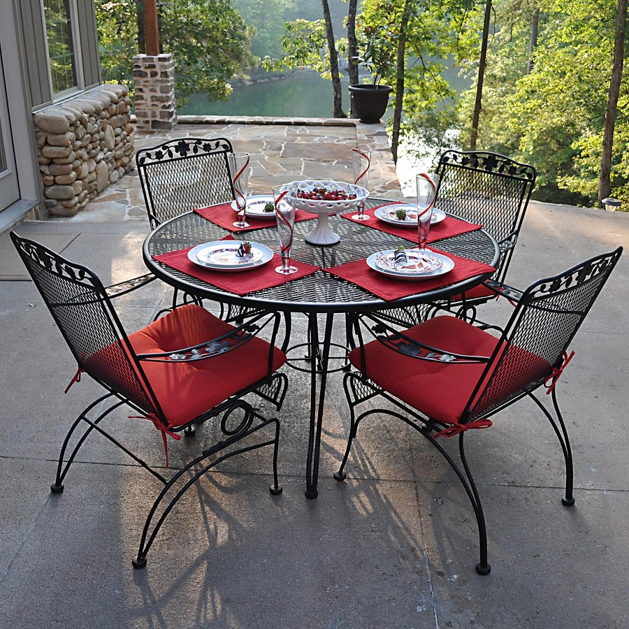 Image of: Cast Iron Patio Furniture Paint