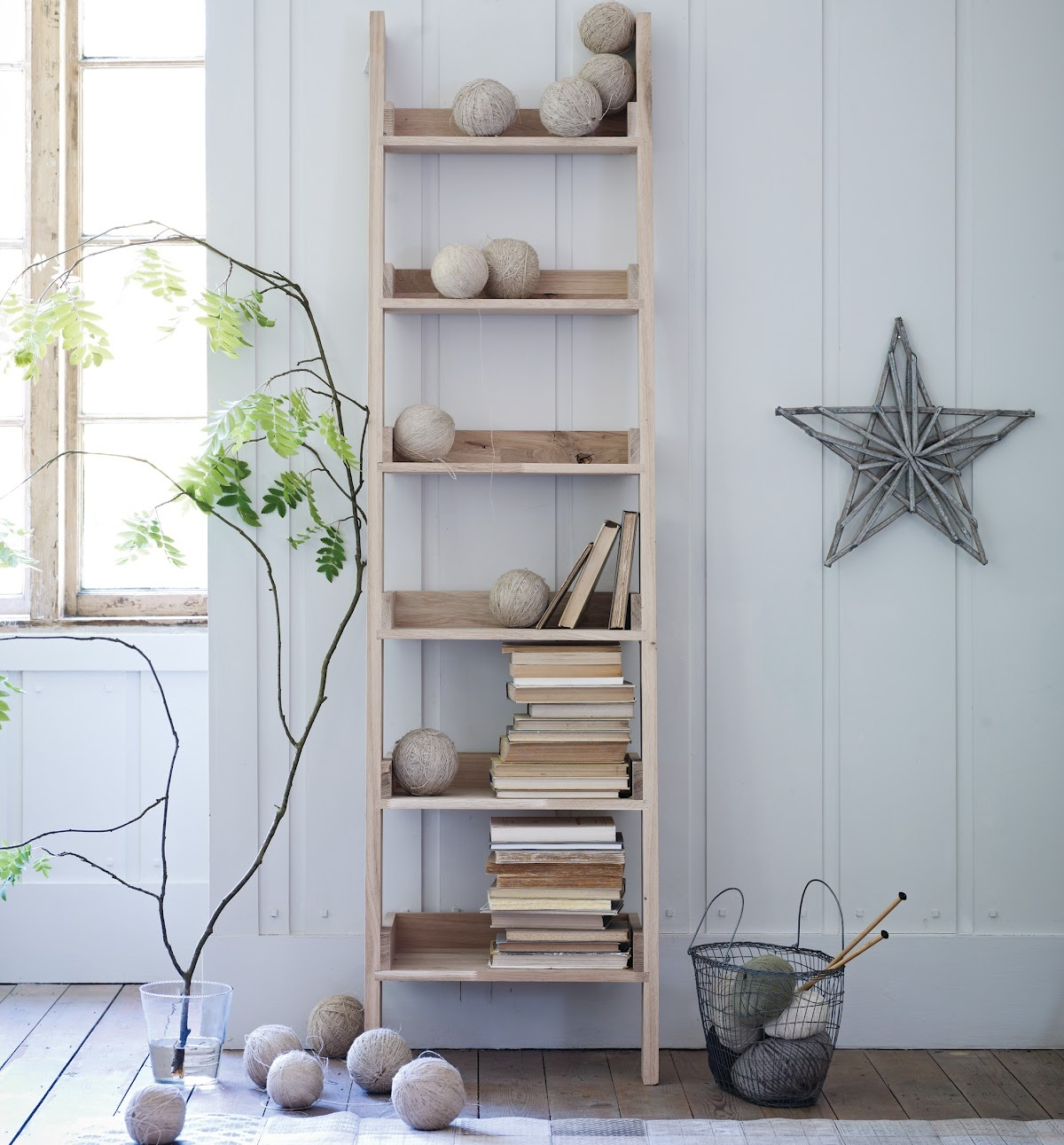 Image of: Casual White Leaning Bookcase