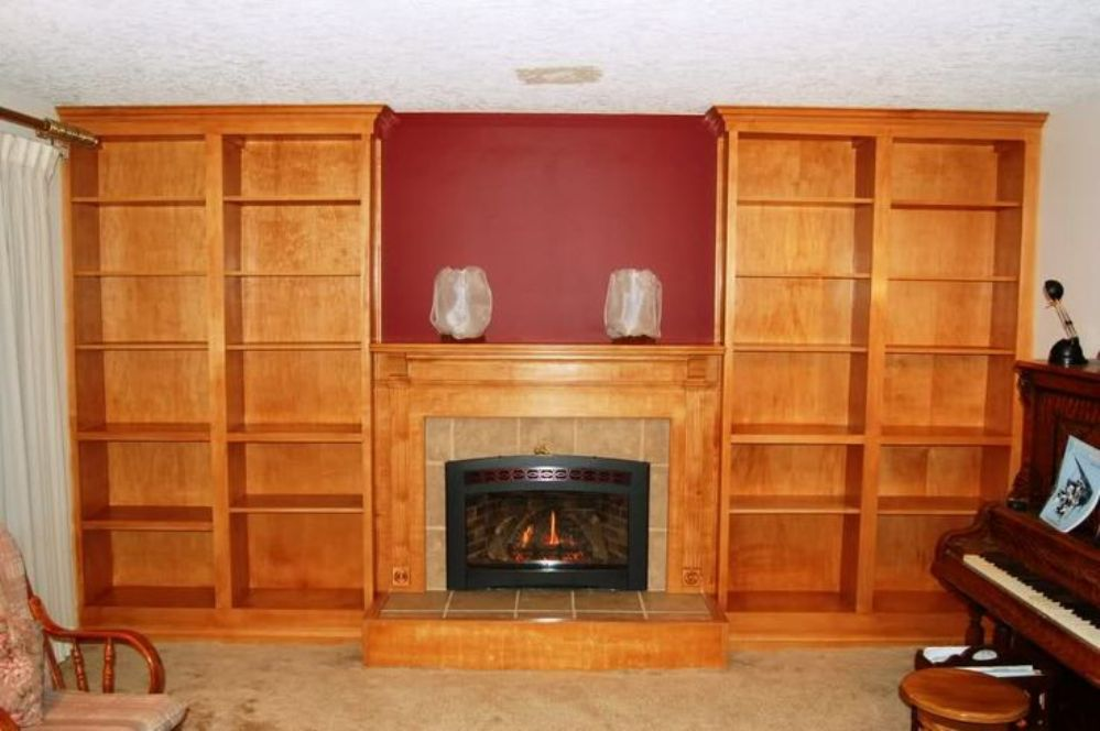 Image of: Cherry wood barrister bookcase