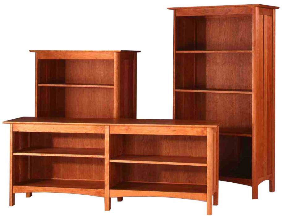 Image of: Cherry wood bookcase with doors