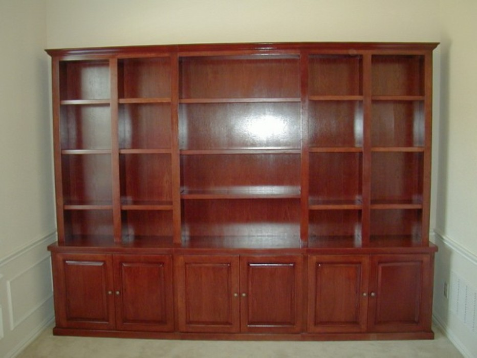 Image of: Cherry wood bookcase