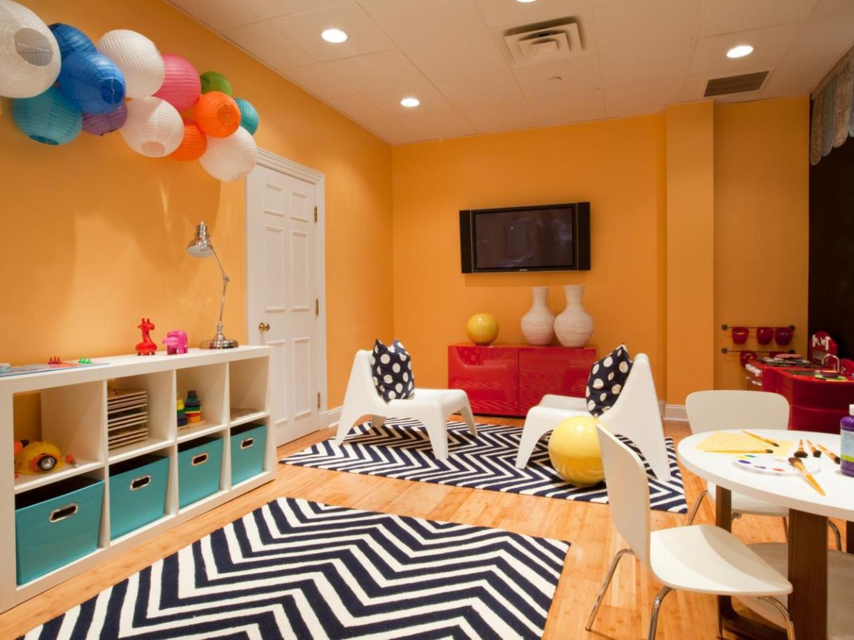 Image of: Chevron Area Rug For Kids Room