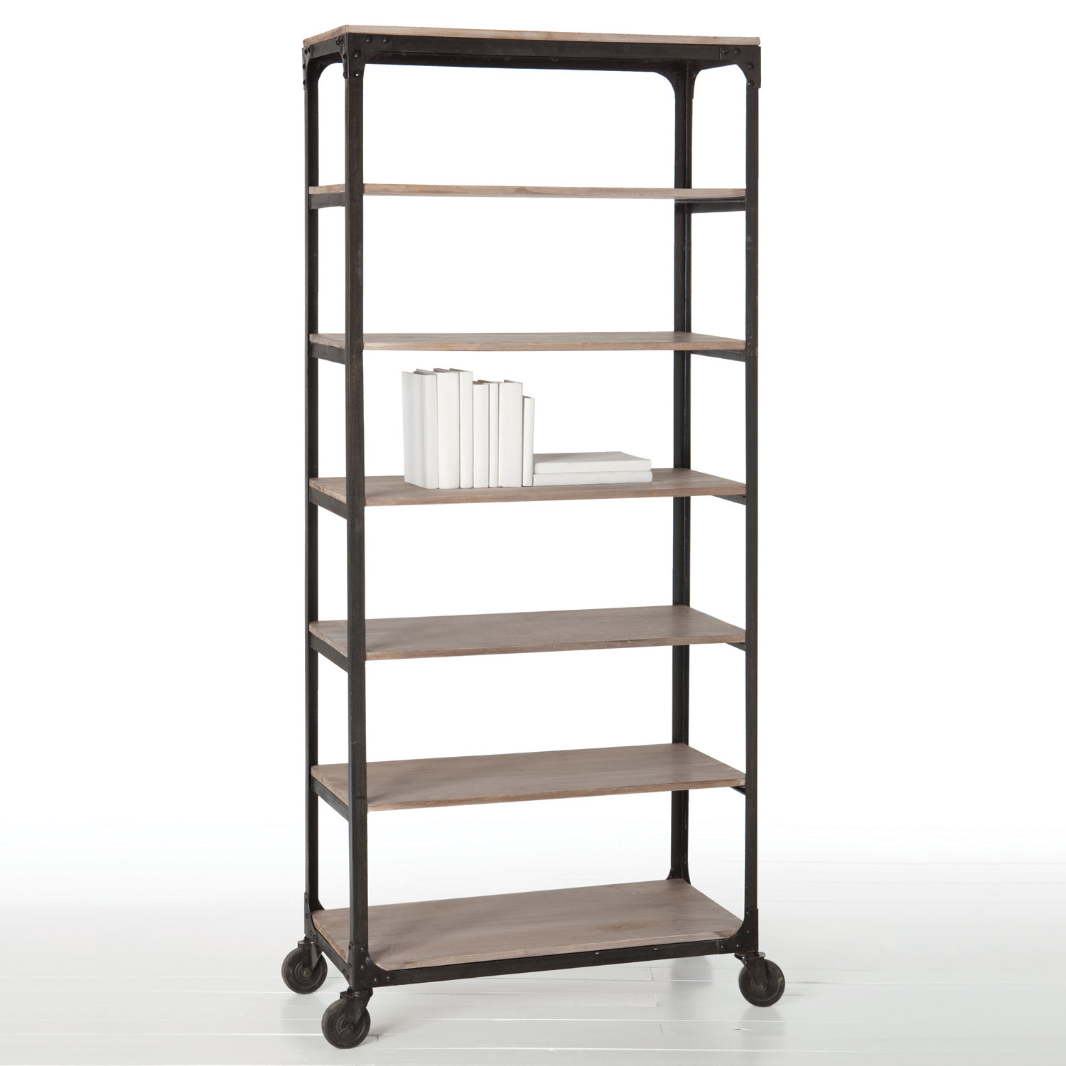 Image of: Classic Rolling Bookcase