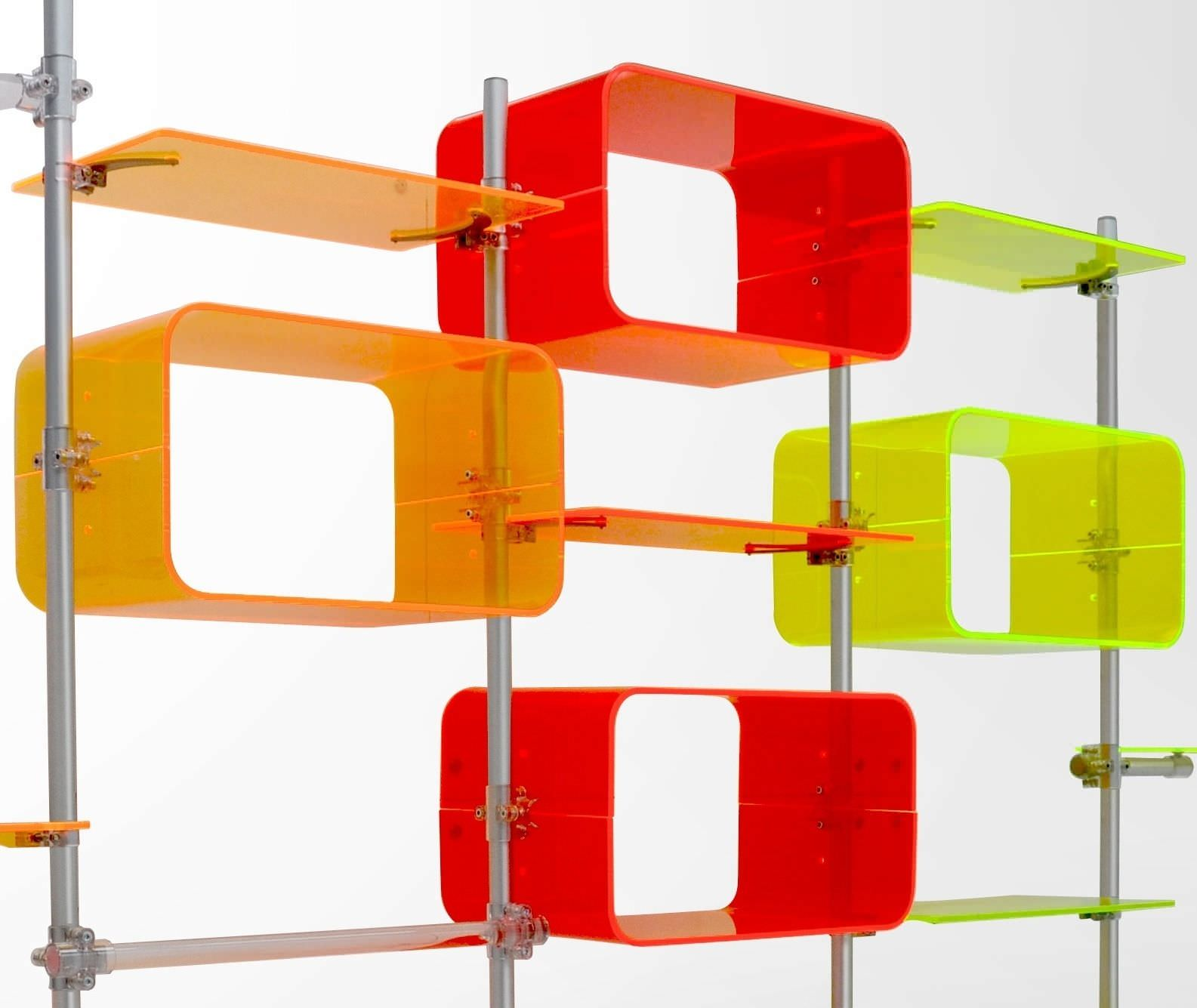 Image of: Color Acrylic Bookcase