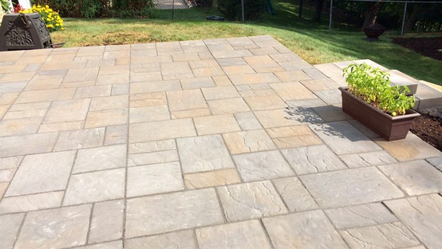 Image of: Colored Paver Patio