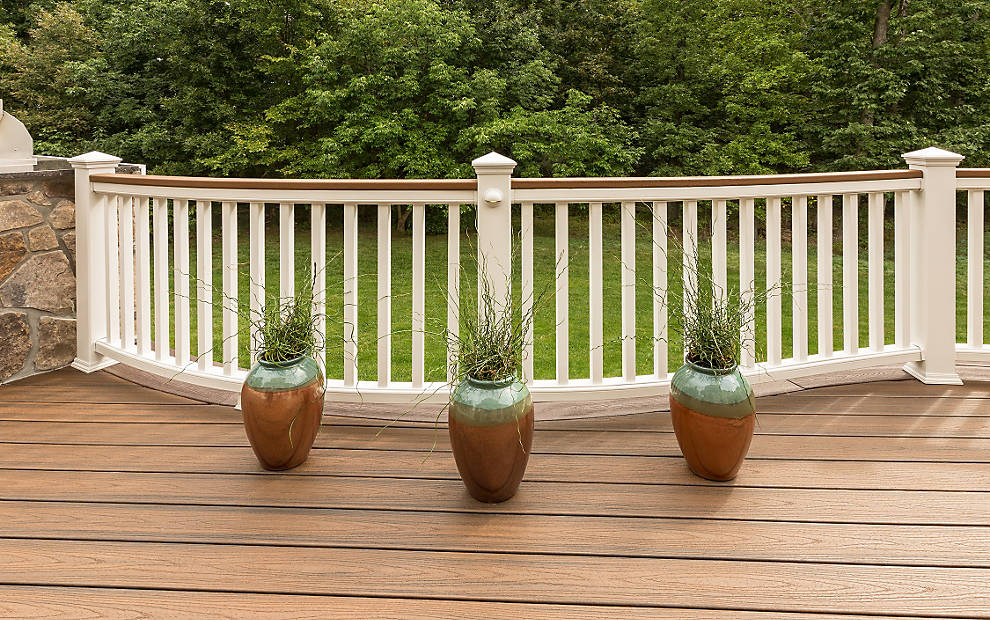 Image of: Composite Deck Railings Plan